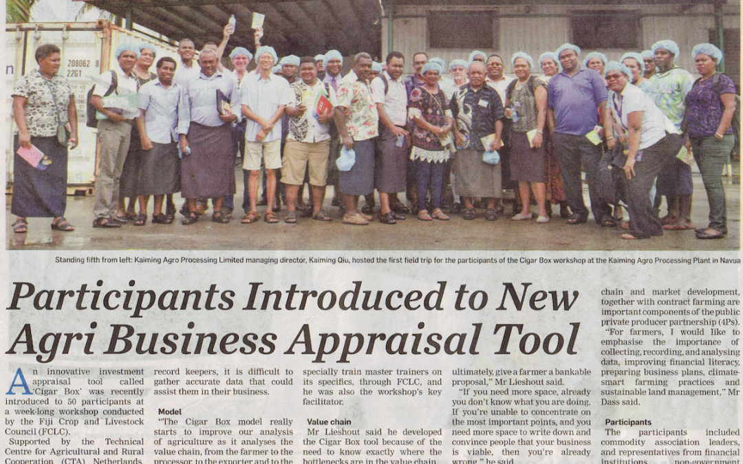 Participants introduced to new agri business appraisal tool